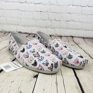 Sketchers Cali w Memory Foam Cat Print Size 9